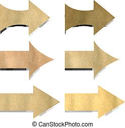 Old Paper Arrows Set