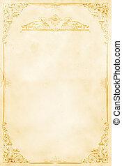 Old paper background with decorative vintage border.