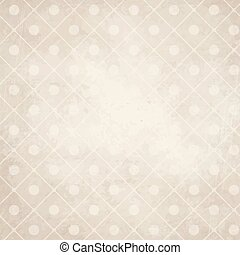 old paper background with points on checkered pattern