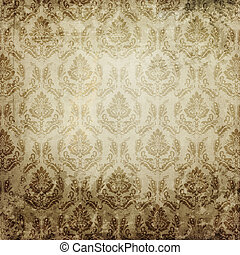 Old paper background with vintage patterns..