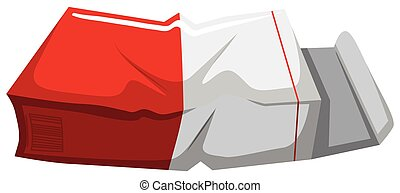 Old paper box on white background