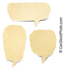paper bubble talk - old paper bubble talk tag craft stick on...
