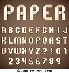 Old Paper Folded Font