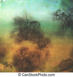 old paper grunge background with texture and blue sky view