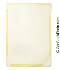 old paper grunge yellow background