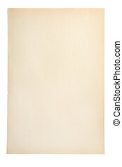 Old Paper - Old paper sheet isolated on white background...