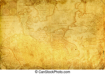 Old paper. - Old paper with a fragment of medieval maps.