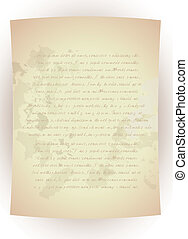 Old Paper - Old Vintage Letter-Hand written