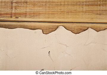 old paper on a wooden background
