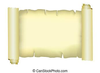 Old paper parchment, vector