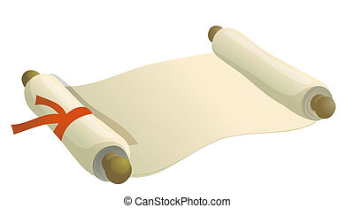 old paper roll