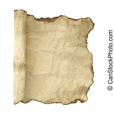 Old paper scroll. Isolated on white background