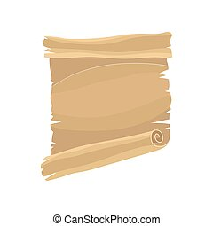Old paper scroll, parchment vector Illustration on a white background