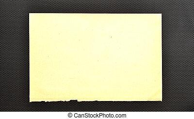 old paper sheets over black background