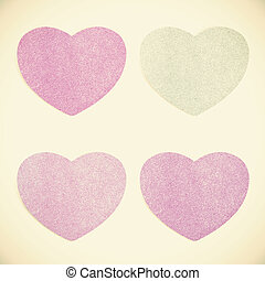 Old Paper texture ,heart on vintage tone background
