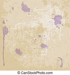 Old paper texture with blots - vector illustration