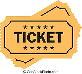 Old paper ticket vector icon