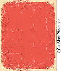 Old paper. Vector red grunge texture for text