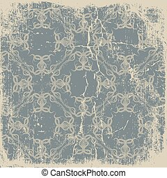 old paper with a beautiful pattern vintage background