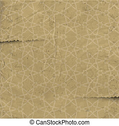 Old paper with arabic pattern