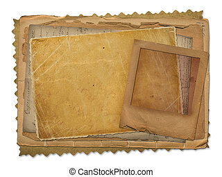 Old papers and grunge slide with space for text or image