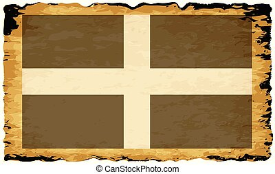Old Parchment Flag Of Cornwall County - Flag of the English ...