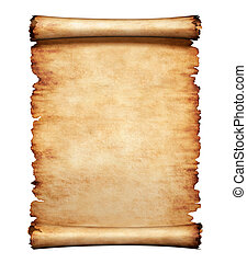 Old Parchment Paper Letter Background - Old grungy piece of...