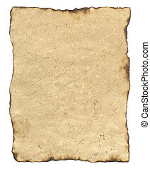 Old Parchment Paper with Burned Edges. Includes Clipping...