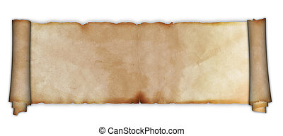 Old parchment scroll.