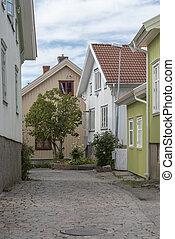 Old part of Mollosund in Sweden