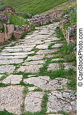 Old paved road
