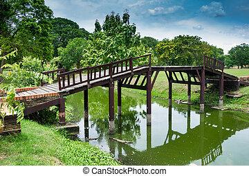 Old pedestrian bridge in Ayutthaya