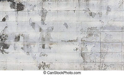 Old peeling paint brick wall grunge and dirty