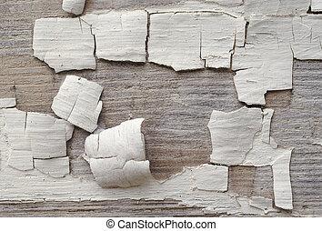 old peeling paint on wood