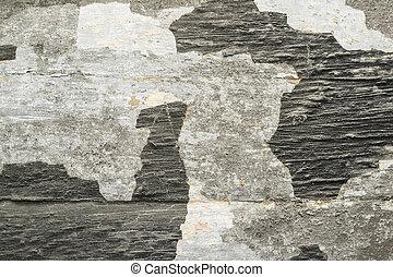 Old peeling paint on wood surface.