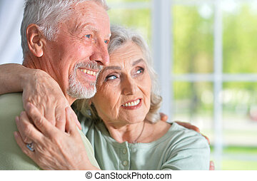 Old people at home