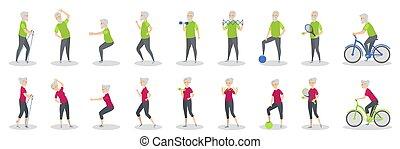 Old people sport.