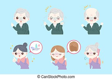 old people with hair concept