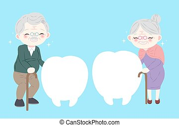 old people with tooth billboard