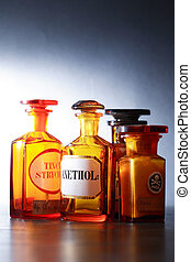 Old Pharmaceutical Phials