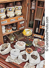 old pharmacy - reproduction of antique pharmacy with...