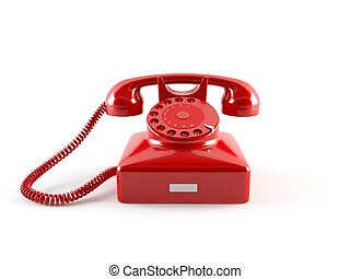 Old phone - 3D rendering of a classic vintage phone