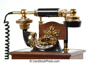 An old telephone.