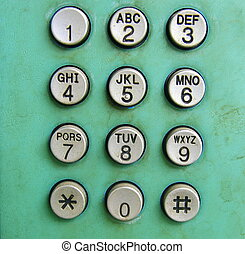 Old phone dial button background
