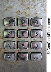old phone keypad numbers