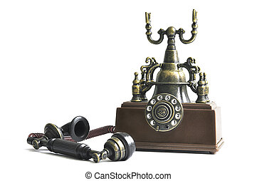 Old phone of brown color
