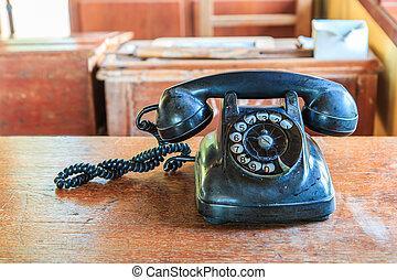 Old Phone on old desk