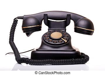 Old Phone - old vintage phone on white