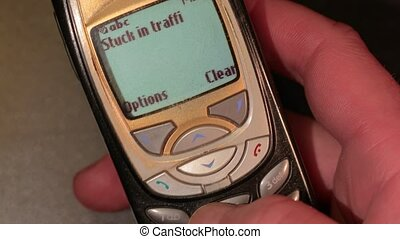 Old Phone Texting - Texting on an oldschool cellphone