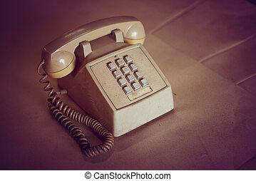 Old phones  vintage condition.